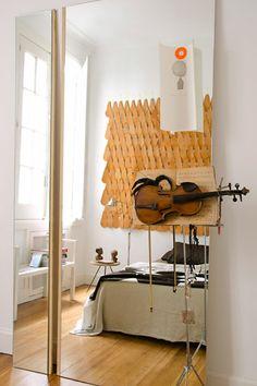 Creatividad al cuadrado. El piso de los interioristas Julio Oropel y José Luis Otiñano. http://www.muudmag.com/spa/pagina/336-Natural_Talens Fotos: FOTOS: María Eugenia Daneri