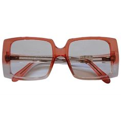 Givenchy 1990s  See Through Peach sunglasses