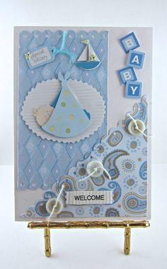 New born baby boy congrats card.