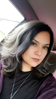 Salt and pepper gray hair. Granny hair don… – White Hair Dark Grey Hair, Silver Grey Hair, Short Hairstyles For Women, Cool Hairstyles, Scene Hairstyles, Daniel Golz, Pelo Color Plata, Grey Hair Inspiration, Transition To Gray Hair