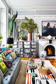 New York Chic - Eclectic Organized Clutter Home Decorating Ideas