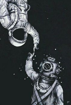Astronauta e mergulhador. i like the message of two world metting one another. Poster S, Cute Quotes, Clever Quotes, Sweet Love Quotes, Beautiful Words, Beautiful Poetry, Beautiful Soul, Beautiful Things, Decir No