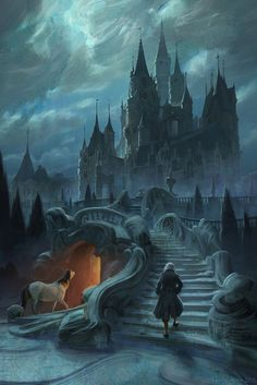 Beauty and the Beast Concept Art by Karl Simon - Dream - . Beauty and the Beast Concept Art by Karl Simon – Dream – # Dark Fantasy Art, Fantasy Artwork, Fantasy Concept Art, Fantasy City, Disney Concept Art, Fantasy Castle, Fantasy Places, Fantasy World, Fantasy Series