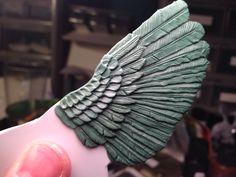 Sculpting bird wings