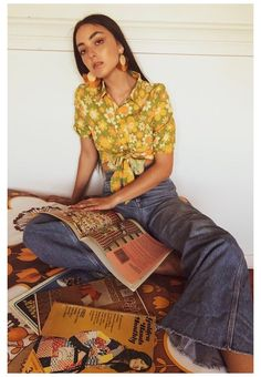 Outfits Casual, Mode Outfits, Retro Outfits, Vintage Outfits, Fashion Outfits, Seventies Outfits, Cute Hippie Outfits, Fashion Fashion, 70s Women Fashion