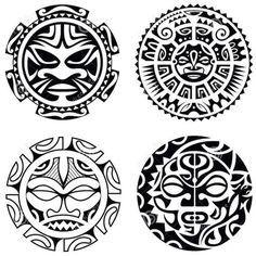 Maori Tattoos 58427 Set of polynesian tattoo styled masks. Body Art Tattoos, Small Tattoos, Sleeve Tattoos, Tattoos For Guys, Buddha Tattoos, Arm Tattoos, Flag Tattoos, Tattoo Maori Brazo, Samoan Tattoo