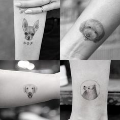 Micro Pet Portrait Tattoos by Sanghyuk Ko