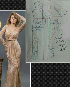 Dress Sewing Patterns, Clothing Patterns, Designer Wear, Designer Dresses, Girls Evening Dresses, Hijab Fashion, Fashion Dresses, Half Jacket, Sewing Projects For Beginners
