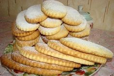 Milk biscuits with vanilla from childhood. Ingredients: Flour - 400 g Sugar - 200 g Margarine - 100 g Milk - 80 ml Disintegrant - 10 g Eggs - 1 Cookie Desserts, Cookie Recipes, Dessert Recipes, Sweet Recipes, My Recipes, Favorite Recipes, Milk Biscuits, Milk Cookies, Sweet Pastries
