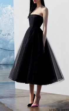 A line black tulle strapless prom dress, Shop plus-sized prom dresses for curvy figures and plus-size party dresses. Ball gowns for prom in plus sizes and short plus-sized prom dresses for Trendy Dresses, Elegant Dresses, Cute Dresses, Beautiful Dresses, Dresses For Work, Formal Dresses, Sexy Dresses, Wedding Dresses, Wedding Shoes