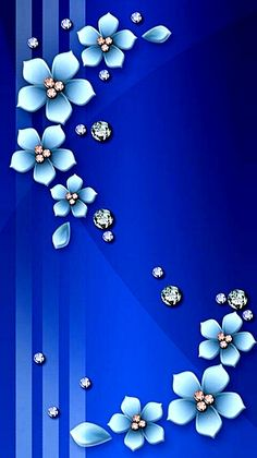 Ideas For Wall Paper Iphone Vintage Backgrounds Blue Bling Wallpaper, Flowery Wallpaper, Flower Background Wallpaper, Framed Wallpaper, Flower Backgrounds, Mobile Wallpaper, Pattern Wallpaper, Wallpaper Backgrounds, Vintage Backgrounds