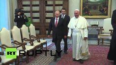 POPE FRANCIS I and VLADIMIR PUTIN