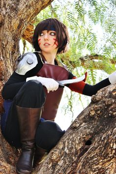 scribbleblogger: Smellerbee from Avatar: The Last Airbender. I felt so in character climbing in that tree!