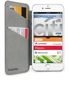 SurfacePad for iPhone is a different type of protection for iPhone. Feather light and credit card thin, SurfacePad for iPhone adheres to, and wraps around iPhone 6 / 6 Plus. Rather than protecting your iPhone from falling off a cliff, the luxury leather SurfacePad shields your iPhone from more common hazards, like the keys in your pocket. This minimalistic, napa-leather cover has a built-in stand for hands-free iPhone use. It's the perfect cover for those who have an iPhone, and are not…