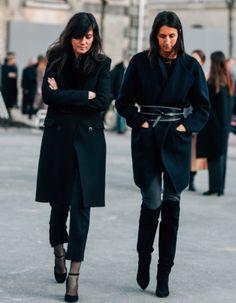 Geraldine Saglio and Emmanuelle Alt ... black is a happy color