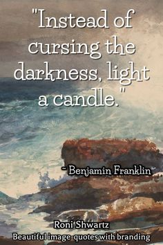 A great inspiring quote by Benjamin Franklin | Get 20 beautiful image-quotes with your branding for only US$ 5 !