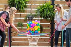 The experts at HGTV.com share instructions for creating a giant DIY yard game. Giant kerplunk has never been so easy to create simply with some wire fencing  and a few wooden dowels.