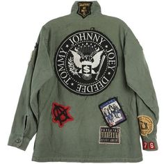 Ramones Jacket found on Polyvore featuring outerwear, jackets and green jacket