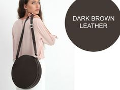Your place to buy and sell all things handmade Brown Leather Purses, Dark Brown Leather, Real Leather, Leather Bag, Crocodile Animal, Circle Purse, Crossbody Bag, Tote Bag, Beautiful Handbags