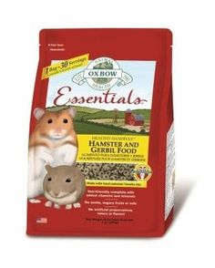 SMALL ANIMAL - FOOD - ESSENTIALS HAMSTER/GERBIL - 1 LB - OXBOW ANIMAL HEALTH - UPC: 744845302096 - DEPT: SMALL ANIMAL PRODUCTS