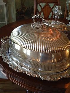Now this is how to serve the turkey! Vintage silver
