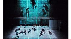 he Master and Margarita – by Complicite – Barbican Theatre London March 2012 Directed – Simon McBurney Designed – Es Devlin Costumes – Christine Cunningham Lighting –  Paul Anderson Video Design –  Finn Ross with Additional Animation by Luke Halls for Treatment Studio.NEWM&M 8