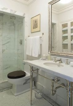 Suzie: James Michael Howard - Love the abundance of marble in this space.  Love the large ...
