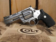Colt Anaconda Magnum I would love to have a barreled one too. 357 Magnum, Weapons Guns, Guns And Ammo, Home Defense, Self Defense, Revolver Pistol, Fire Powers, Cool Guns, Firearms