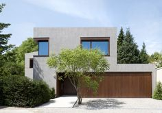 Haus SK Haus SK muenchenarchitektur The post Haus SK appeared first on Architecture Diy. Modern Architecture House, Architectural Design House Plans, Modern Buildings, Modern House Design, Architecture Details, Concrete Architecture, Town Country Haus, Concrete Houses, Facade House