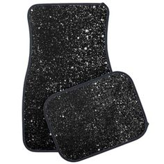 Black Diamond Bling Sparkle Print Car Mat