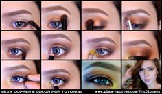 Sexy Copper & Color Pop Tutorial  Visit site for details  #holiday #makeup #eye #copper #gold #bronze #makeup #tutorial #howto