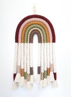 Macrame Art, Macrame Design, Macrame Projects, Rainbow Crafts, Baby Wall Art, Macrame Patterns, Scraps Quilt, Disney Fonts, Crochet Humor