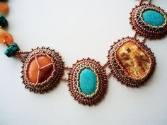 Embroidered Necklace for New Year's Celebrations by RUTA BUTKEVICIUTE - AYASSE on Etsy