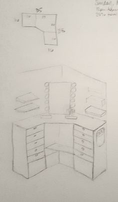 A step-by-step process on how I built a corner makeup vanity. Source list included.