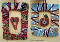 fun to with hanging hearts in the middle...love the yarn wrapped frame!
