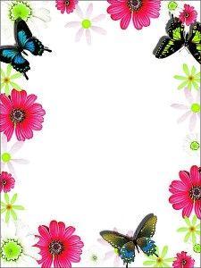Flower Borders And Frames Free Image Colorful Frame Border Royalty Stock Printable Border, Printable Frames, Printable Labels, Printables, Boarder Designs, Page Borders Design, Frame Border Design, Light Purple Flowers, Colorful Flowers