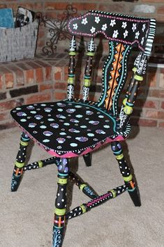 Furniture Mall outside Ashley Furniture Dining … Furniture stores Portland Maine. Furniture mall outside Ashley Furniture Dining Chairs for sale under large furniture stores near me Whimsical Painted Furniture, Hand Painted Chairs, Painted Stools, Hand Painted Furniture, Funky Furniture, Paint Furniture, Upcycled Furniture, Large Furniture, Furniture Stores
