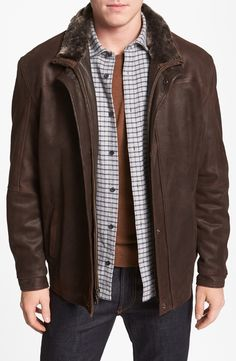 Remy Leather Double Collar Leather Jacket