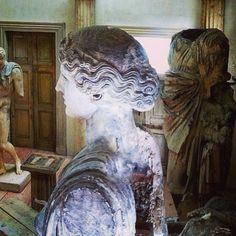 Amongst the Antiquity... #inspiration #regram #bronsonpitchot #restoration #antiquity #statuary #classical #beauty #art