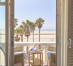 You can't get much closer to the sand than this!  Shutters on the Beach - Santa Monica, California.