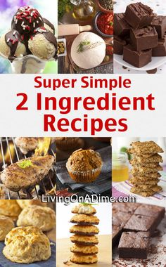 Super Simple 2 Ingredient Recipes - Living on a Dime To Grow Rich