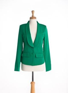 Classic Blazer - Green,  Outerwear, green classic blazer, Casual