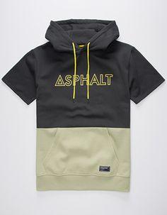ASPHALT YACHT CLUB Triblock Mens Hoodie Grey Grey Hoodie 5b6b6ea57
