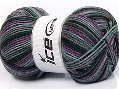 Plaid Purple Grey Shades Anthracite Planned Pooling at Yarn Paradise