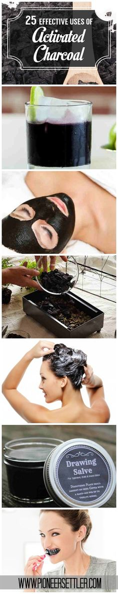 25 Effective Uses of Activated Charcoal by Pioneer Settler at http://pioneersettler.com/activated-charcoal-uses/