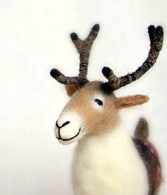 Gunnolf - Felt Reindeer. TwoSadDonkeys