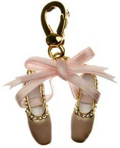 JUICY COUTURE Ballet Shoes Charm in Pink & Gold at Revolve Clothing - Free Shipping!
