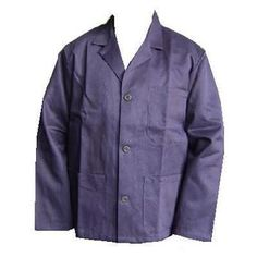 Slop Jacket,  Navy Blue 100% Cotton Button Front Railway Engineers Slop Jacket £22.50