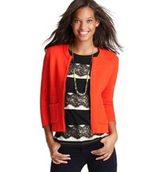 LOVE the poppy red with the lace top! Could totally see this with leopard shoes.