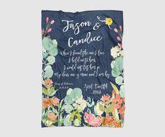 Wedding Fleece Blanket - Wedding/Anniversary Personalized Gift